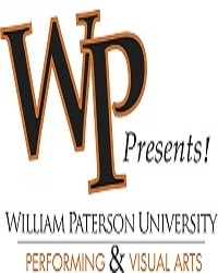William Paterson University student and pro comedy night (university's logo)
