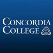 College comedian (image is the Concordia College logo)