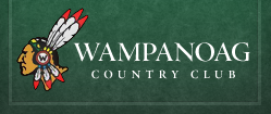 Connecticut country club comedy show (Wampanoag Country Club logo)