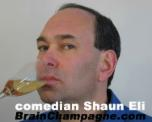 Corporate Stand-up Comedian Shaun Eli drinking Champagne