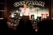 Gotham Comedy Club- Shaun Eli on stage hosting The Ivy League of Comedy